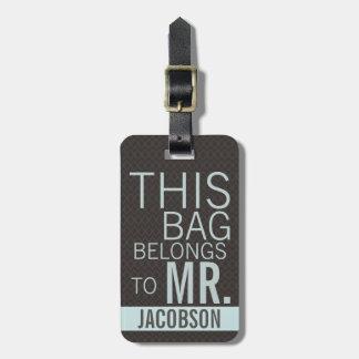 Este bolso pertenece a SR. Etiquetas Maletas