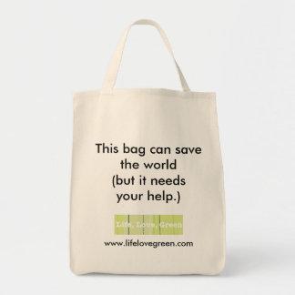 Este bolso puede ahorrar el mundo… bolsa tela para la compra