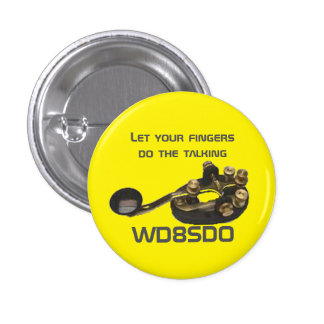 ¡Este botón del CW Ops p está para usted! Pin Redondo De 1 Pulgada