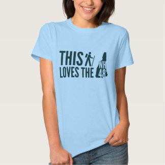 """""""Este caminante ama la camiseta"""" de las mujeres el Poleras"""