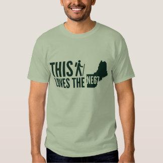 """""""Este caminante ama"""" la camiseta el NE67 Playeras"""
