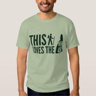 """""""Este caminante ama"""" la camiseta el NH48 Camisas"""