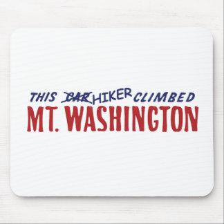 Este caminante subió Mt Washington, no un coche Alfombrillas De Ratones