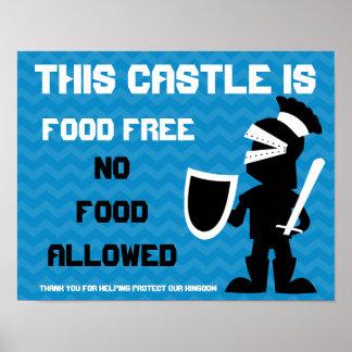 Este castillo está libre de la comida guardado por póster