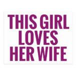 Este chica ama a su esposa postales