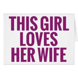 Este chica ama a su esposa tarjeta pequeña