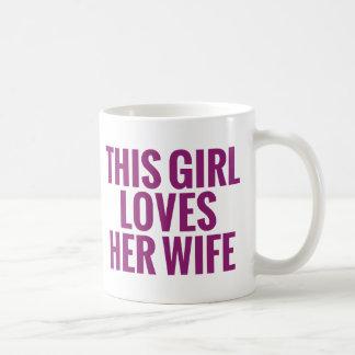 Este chica ama a su esposa taza