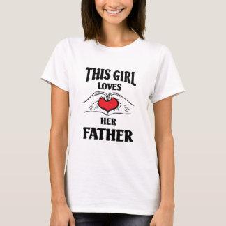 Este chica ama a su padre playera