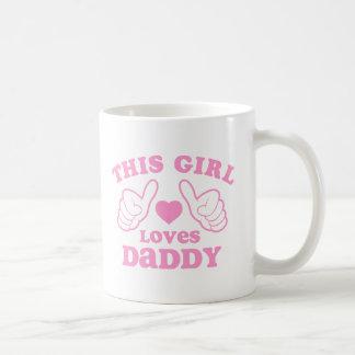 Este chica ama al papá taza clásica
