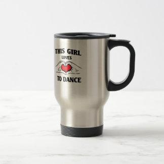 Este chica ama bailar taza de viaje de acero inoxidable