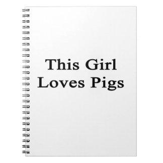 Este chica ama cerdos notebook