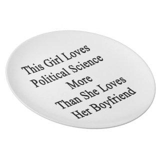 Este chica ama ciencia política más que ella Lo Plato De Comida