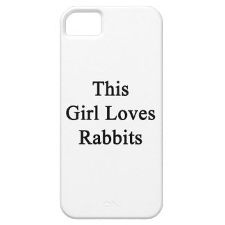 Este chica ama conejos iPhone 5 cárcasa