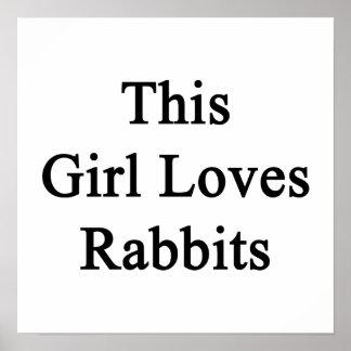 Este chica ama conejos posters