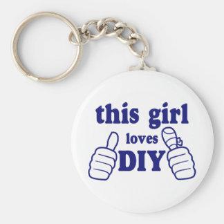 Este chica ama DIY Llavero Redondo Tipo Pin