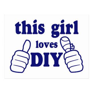 Este chica ama DIY Postal