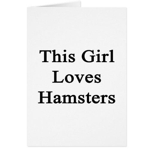 Este chica ama hámsteres tarjeta pequeña
