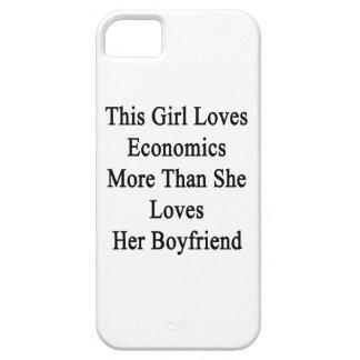 Este chica ama la economía más que ella la ama iPhone 5 Case-Mate protectores