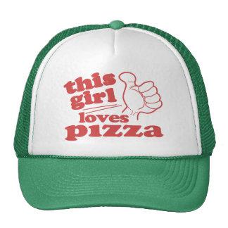 Este chica ama la pizza gorras de camionero
