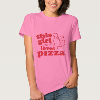 Este chica ama la pizza playeras