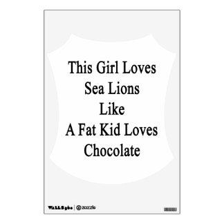 Este chica ama leones marinos como los amores Cho Vinilo Decorativo