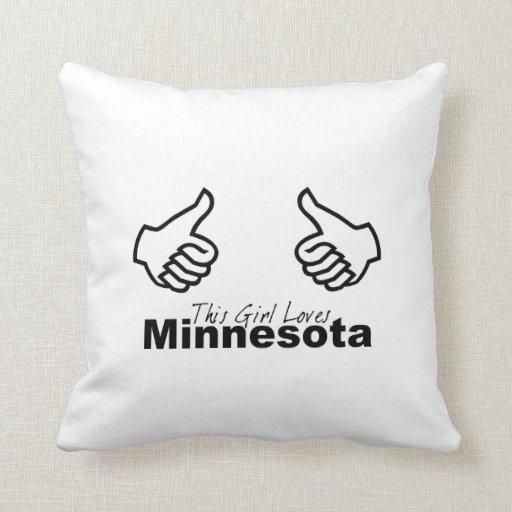 Este chica ama Minnesota Almohadas