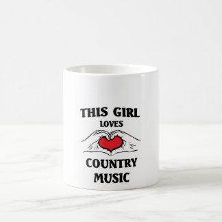 Este chica ama música country taza de café