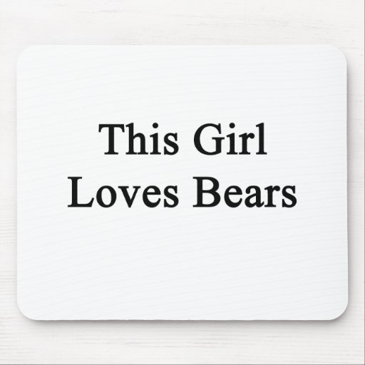 Este chica ama osos alfombrilla de raton