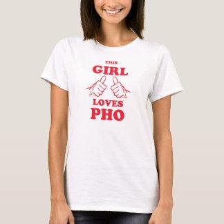 Este chica ama Pho Playera