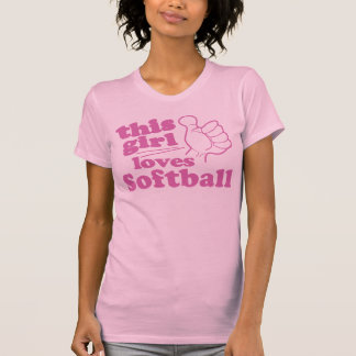 Este chica ama softball camiseta