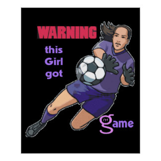 Este chica consiguió el poster del juego (fútbol)