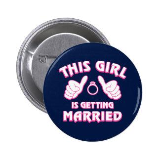 Este chica está consiguiendo casado chapa redonda 5 cm