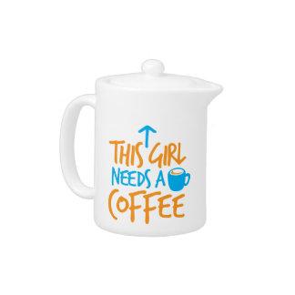 ¡Este chica necesita un café! diseño del combustib