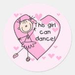 Este chica puede bailar las camisetas y los pegatina redonda
