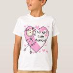 Este chica puede bailar las camisetas y los poleras