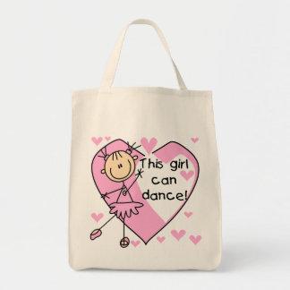 Este chica puede bailar las camisetas y los regalo bolsa tela para la compra