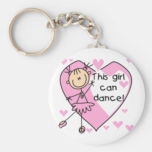 Este chica puede bailar las camisetas y los regalo llavero