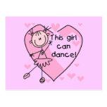 Este chica puede bailar las camisetas y los regalo tarjeta postal