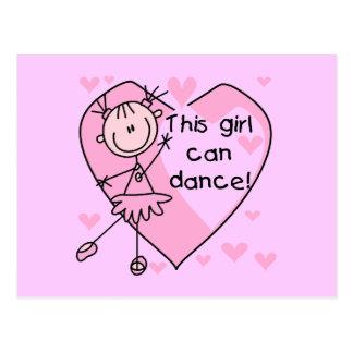 Este chica puede bailar las camisetas y los tarjetas postales