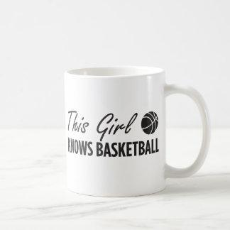 Este chica sabe baloncesto taza de café