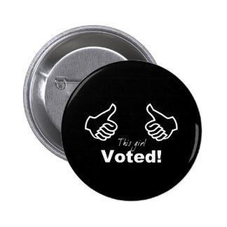 Este chica votado pin redondo 5 cm