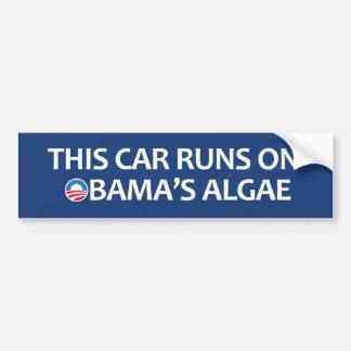 Este coche corre en las algas de Obama Pegatina Para Auto