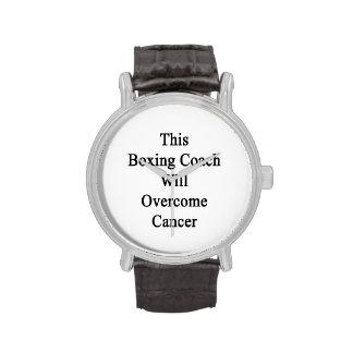 Este coche del boxeo superará al cáncer relojes de mano