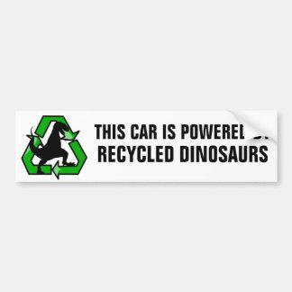 Este coche es accionado por los dinosaurios pegatina para auto