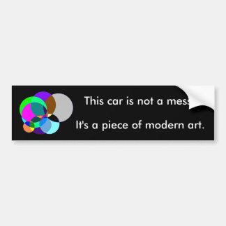 Este coche es arte moderno pegatina para auto