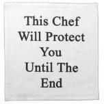 Este cocinero le protegerá hasta el extremo servilleta