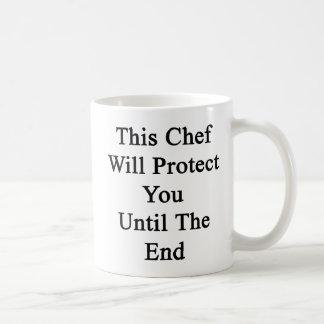 Este cocinero le protegerá hasta el extremo tazas de café