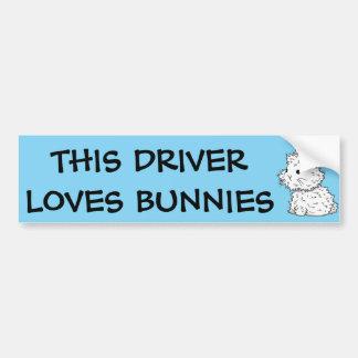 Este conductor ama a la pegatina para el pegatina para auto