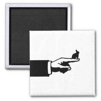 Este conejito de la manera (blanco) imán cuadrado