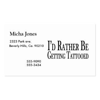 Esté consiguiendo bastante tatuado tarjetas de visita